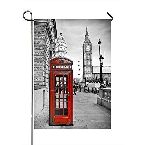 London Big Ben Telephone Booth Yard Decor Home Garden Flag Size 12x18 Inches
