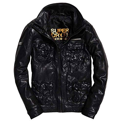 Superdry Lederjacke Icon Brad Black (XL)