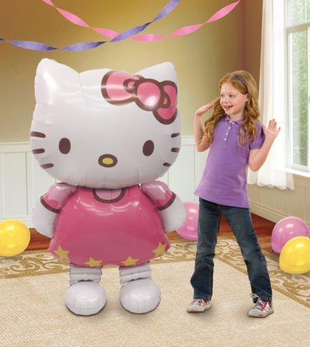 Lgp Hello Kitty Cat Air Walker 50 High Huge Figure Birthday Party Mylar Balloon