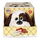 Pound Puppies 38096 Classic 17 inches Adoption Certificate and Kennel-White and Dark Brown Spots-Ages 3+