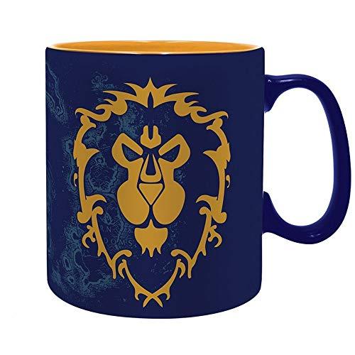 World of Warcraft - Keramik Tasse Riesentasse 460 ml - for The Alliance - Logo - Geschenkbox