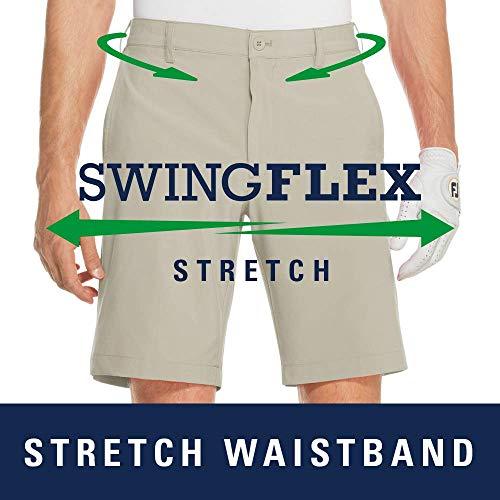 IZOD Men's Golf SwingFlex Cargo Short, Black, 38