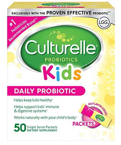 Image of Culturelle Kids Daily Probiotic Packets Dietary Supplement | Helps Support a Healthy Immune & Digestive System | Works Naturally with Your Child's Body | 50 Single Packets