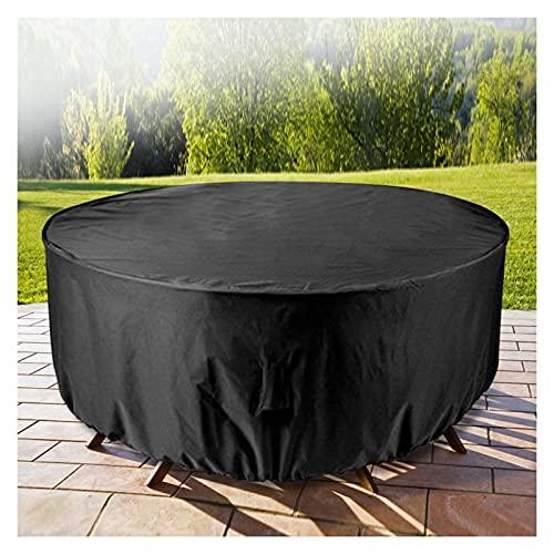 AWSAD Cubierta de Muebles Jardín Aire Libre Conjunto Silla Mesa Redonda Oxford Impermeable Protección Sofá Mimbre Cubiertas A Prueba Polvo Lluvia Patio (Color : Negro, Size : 60x60cm)