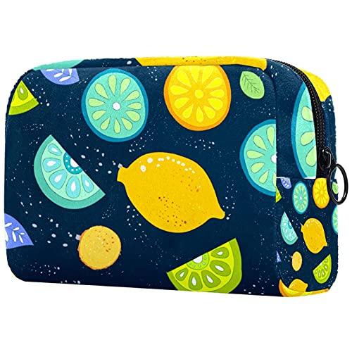 Regalos para Hombres Mujeres Estuche de Maquillaje Estuche para artículos de tocador Estuche pequeño para cosméticos - patrón de Frutas de Colores