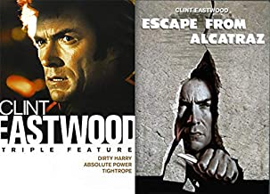 Clint Is Escaping Prison and Fighting Crime in The Bay Area: Clint Eastwood Triple Feature- Dirty Harry/ Absolute Power/ Tightrope & Escape From Alcatraz (4 DVD Bundle)
