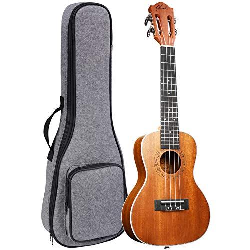 Concert Ukulele Ranch 23 inch Classical ukelele Instrument with Free Online 12 Lessons Professional Beginner Ukalalee Starter Pack Bundle Gig bag