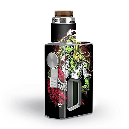 Skin Decal Vinyl Wrap for GeekVape Athena Squonk Kit Vape Kit skins stickers cover / Zombie Nurse Eating Flesh