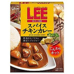 """江崎グリコ LEEスパイスチキンカレー 辛さ×8倍 180g ×10箱"""""""
