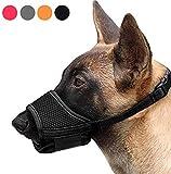Phanindra Dog Muzzle Nylon Soft Muzzle Anti-Biting Barking Secure,Mesh Breathable Pets Muzzle for Small Medium Large Dogs