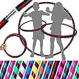 Hula-Hoop-Reifen für Kinder, gute Griffigkeit, für Reisen, einfach demontierbar Super für Tanz, Fitness und Fun. (Durchmesser: 85°cm, Gewicht: 400°g). M schwarz / rot