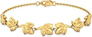 identification-bracelets Size 7.5 inches 18K Yellow Gold 0.16 cttw Round-Cut-Diamond IJ| SI