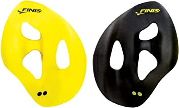 Finis 1.05.033.04 ISO Hand Paddles, Small (Black/Yellow)