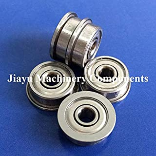 Fevas 50 PCS SF624ZZ Flanged Bearings 4x13x5 mm Stainless Steel Flange Ball Bearings DDRF-1340ZZ