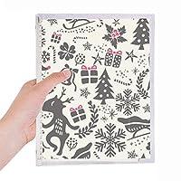 陽気なクリスマスの雪の抽象的なフェスティバル 硬質プラスチックルーズリーフノートノート