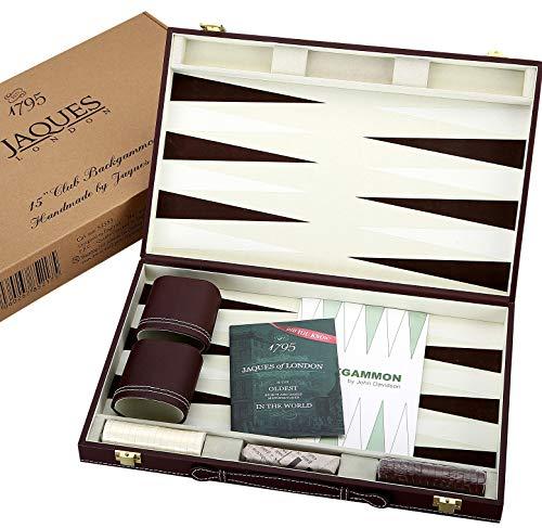 Jaques of London Juego de Backgammon - 15 Pulgadas - Juego de Backgammon