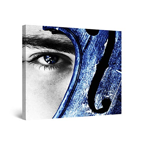 Startonight Wall Art Canvas Oog Viool, Blauw USA Ontwerp voor Home Decor, Dual View Surprise Artwork Modern Ingelijst Klaar om Hang Wall Art 60 x 90 cm 100% Originele Art Painting!