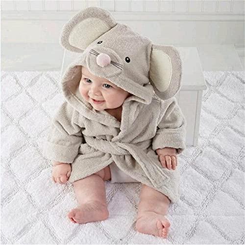 Bata de bebé de 2 a 6 años, Sudaderas con Capucha de Dibujos Animados, Ropa de Dormir para niñas y niños, Toallas de baño, Albornoz Suave para niños, Pijamas, Ropa para niños-a43-0-12M(S Size)