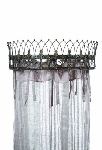 Creative Co-op Elegant Metal Curtain Crown, Rust