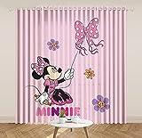 lubenwei Mickey Minnie Mouse Cortinas Opacas Oso Piglet Tigger Cortinas para Ventana Dormitorio Sala de Estar Regalo Creativo 290(H) x200(W) Cmx2 Paneles/Set (B-286)