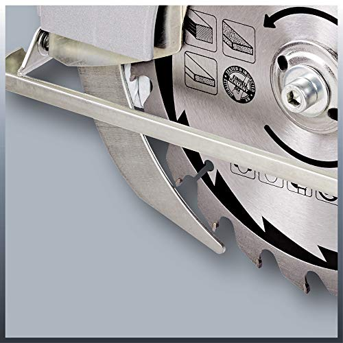 Einhell Handkreissäge TC-CS 1400 (1400 W, max. 66 mm, Sägeblatt Ø 190, 24 Zähne, Softstart, Parallelanschlag) - 6