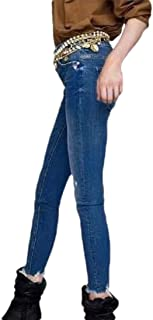Women Casual Stretch Skinny Fit Slim Fit Long Denim Pencil Pants Jeans