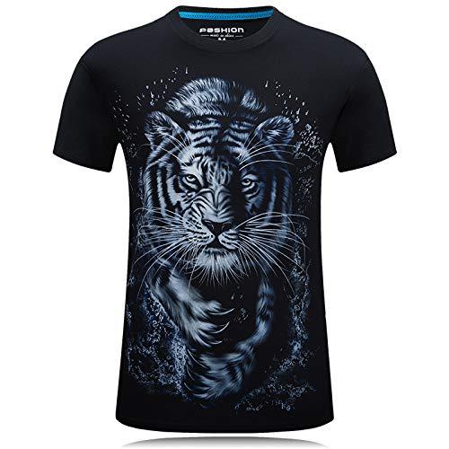 MIRANDA Herren Kurzarm T-Shirt Unhooded Rundhalsausschnitt Gerade Bedruckte Kurzarm
