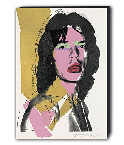 Mick Jagger–Andy Warhol Kunstdruck Wandbild, Print–verschiedene Größen, holz, A0 47x33 inches