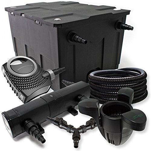 SunSun Filter Set 60000l Teich 36W Teichklärer NEO8000 70W Pumpe 25m Schlauch Skimmer SK30