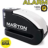 MAXTON MAX15 Antirrobo Moto Disco Homologado Sra, Potente Alarma 120 db, Doble Cierre 14 mm