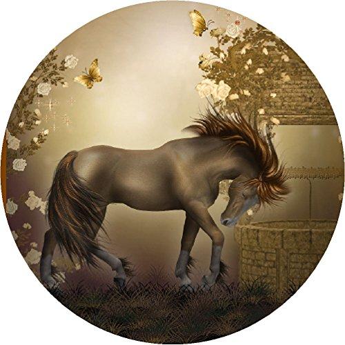CS-decor taartoplegger paarden 04 met glittereffect