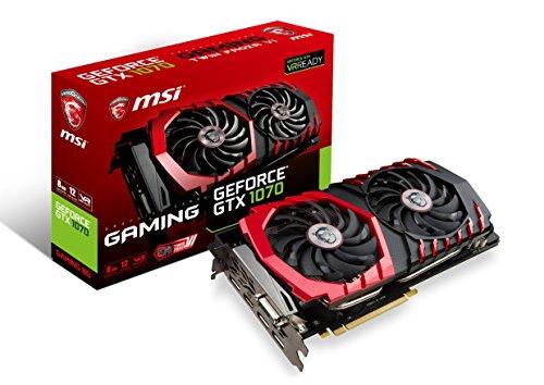 MSI Gaming GeForce GTX 1070 8GB GDDR5 SLI DirectX 12 VR Ready Graphics Card (GeForce GTX 1070 Gaming...