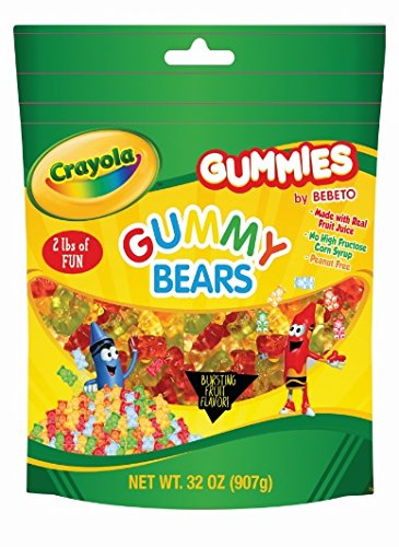 CRAYOLA 2LB BAG ASSORTED GUMMY FLAVORS (Gummy Bears)