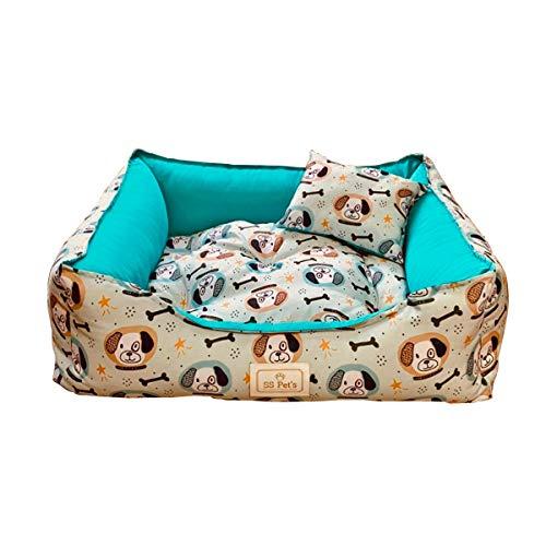 Cama Pet para Cães e Gatos Osso Dog Tamanho Médio SS Pets para Cães