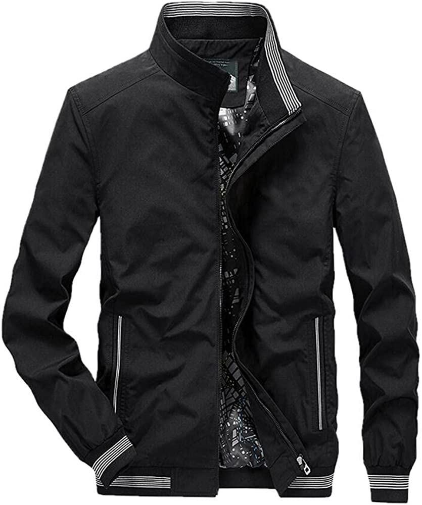 Men's spring 5% OFF and autumn thin jacket 5 ☆ popular lapel casual middle-aged