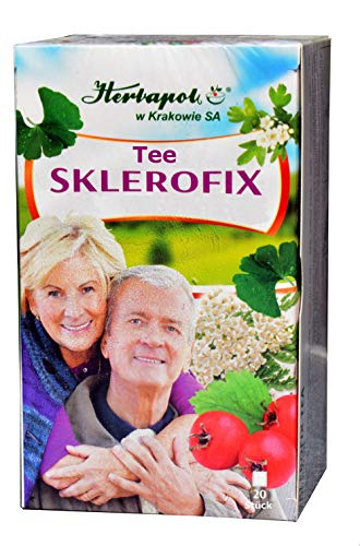 Sklerofix Tee, 20x 2g, 40g, Herzleistung, Blutkreislauf verbessern, Blutgefäße entspannen, Blutdruck normalisieren, Konzentration erhöhen
