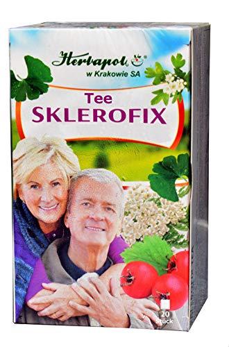 Sklerofix Tee, 20x 2g, 40g, Blutdruck normalisieren, Blutgefäße entspannen, Durchblutung, Herzleistung, Blutkreislauf verbessern, Konzentration erhöhen