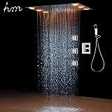 Colonna doccia,360x500 mm Sistema di Doccia Termostatico LED Multifunzione, Modalità Pioggia, 304...