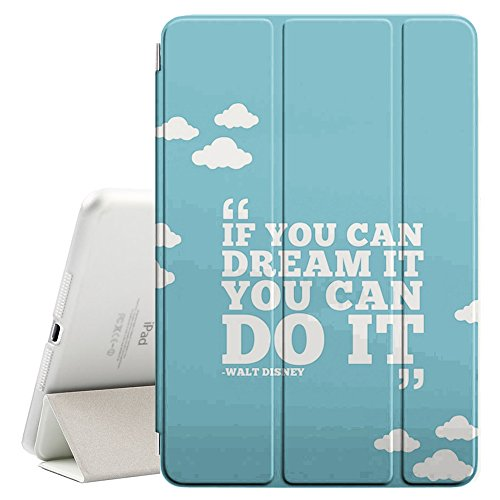 Graphic4You If You Can Dream It You Can Do It Walt Disney Message Quote Ultra Slim Case Smart Cover Stand [with Sleep/Wake Function] for Apple iPad Air 2