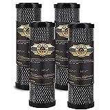 LZH FILTER Accesorios Filtro Repuesto Agua Potable, Filtro Varilla Carbón Sinterizado cto, Filtro Universal Purificación Agua para Toda La Casa (4 Piezas)