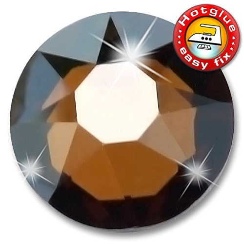 20 Stück SWAROVSKI 2078 XIRIUS Hotfix, Crystal Bronze Shade, SS34 (Ø ca. 7,1 mm), Strasssteine zum Aufbügeln