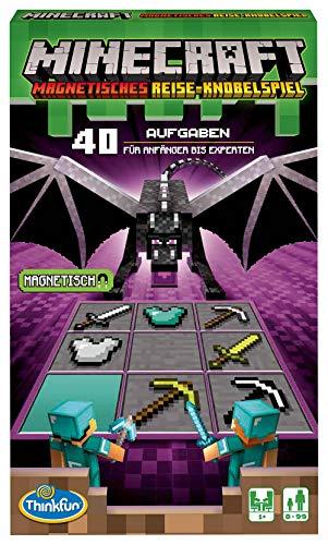 ThinkFun - 76402 - Minecraft - Das magnetische Reisespiel. ideal für die Reise und als Geschenk. Ein Logikspiel nicht nur für Minecraft-Fans