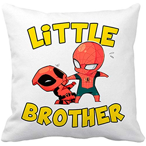 Cojín Parodia Spiderman y Deadpool Little Brother