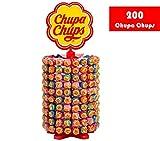 Chupa Chups Caramelo con Palo de Sabores Variados - Rueda de 200 unidades de 12...