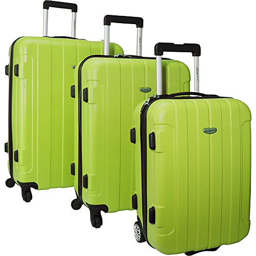 Traveler's Choice Rome 3-piece Hardside Lightweight Spinner/Rolling Luggage Set Green