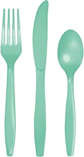 Creative Converting Touch of Colour Fresh Cutlery 24 Pieces, Mint Green