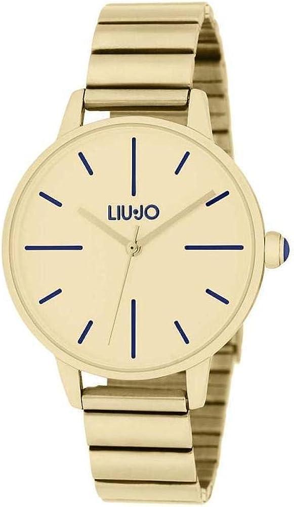 Liu jo jeans,orologio per donna, my feelings gold,in acciaio placcato oro giallo 8057190240046