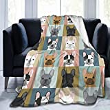 Twenteer Cute French Bulldog Soft Blanket All Season Travel Cozy Plush Throws Blankets Warm Lightweight Thermal Fleece Blankets for Couch Bed Sofa60 X50 for Teens