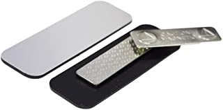 """Name Tag/Badge Blanks - 25 Pack - Brushed Silver 1"""" X 3"""", Round Corners, Magnetic Backing"""