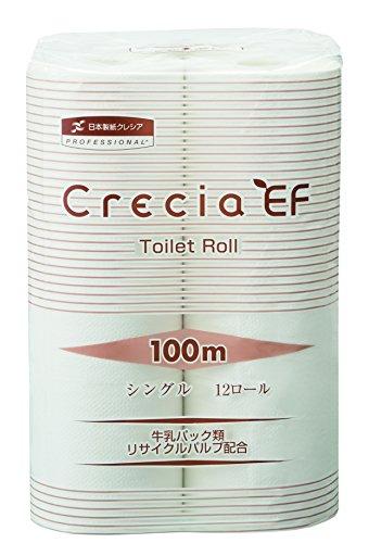 日本製紙クレシア クレシア EFトイレットロール シングル 12ロール 100m